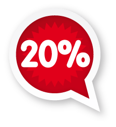 20 Percent Online Discount
