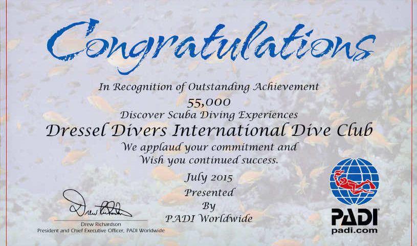 55000 Discover Scuba Diving Experiences About Us