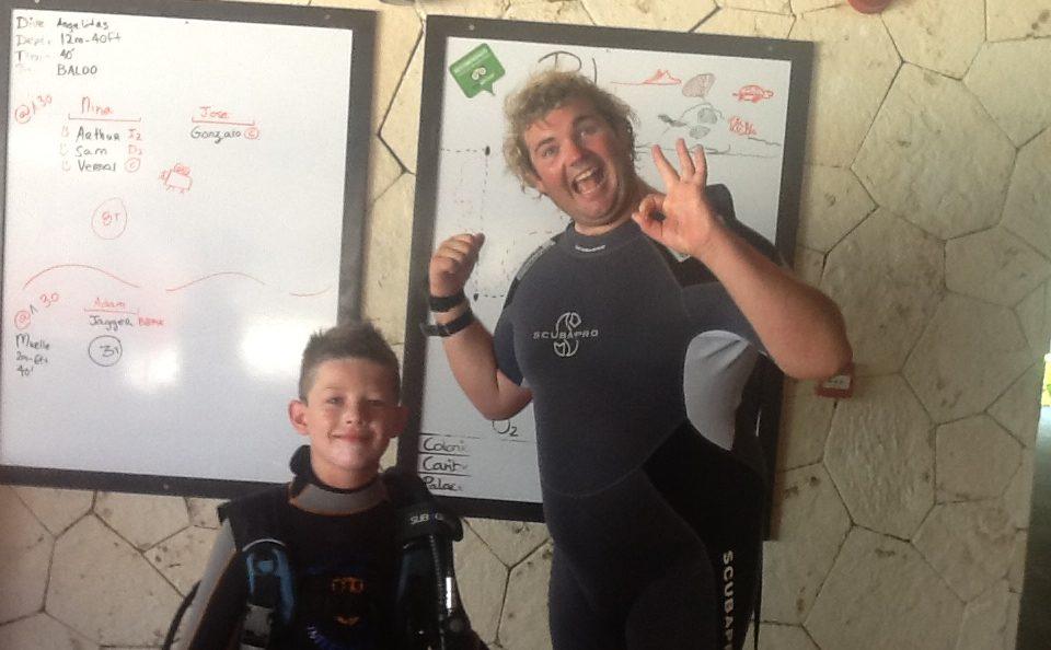 PADI Dive instructor in mexico - Adam