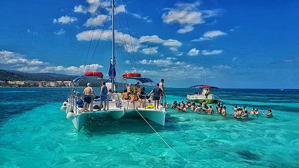 Caribbean adventures in Jamaica - catamaran
