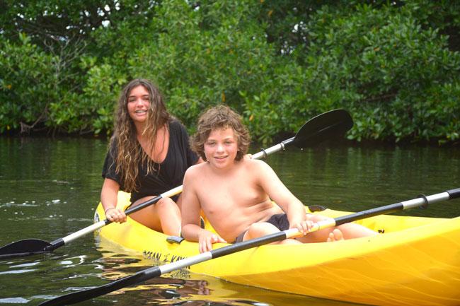 Caribbean adventures in Jamaica - kayak in mangroves