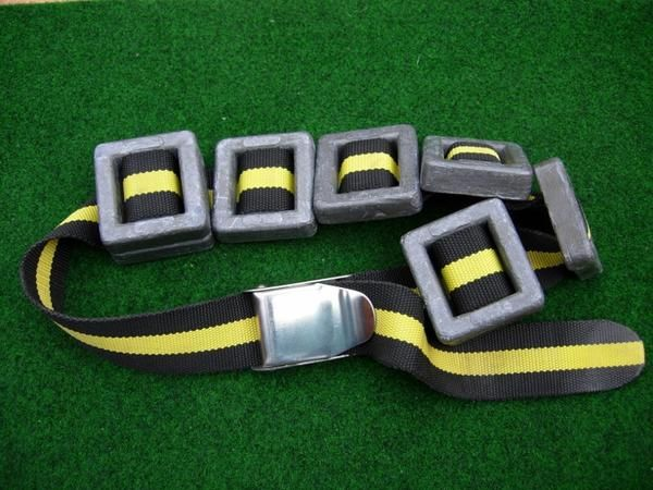 Correct Size Of diving weight belt - green background