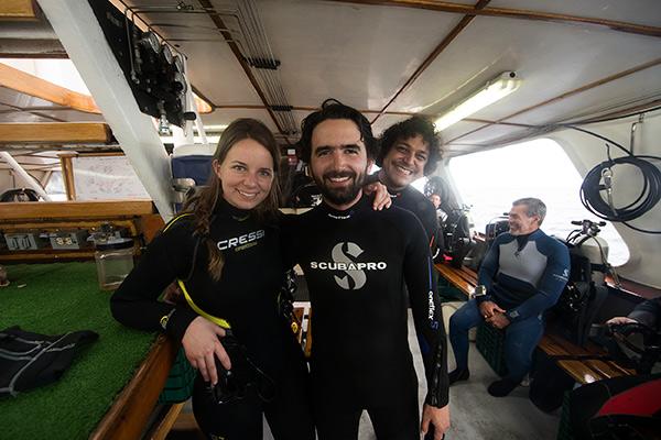 liveaboard diving - dive deck