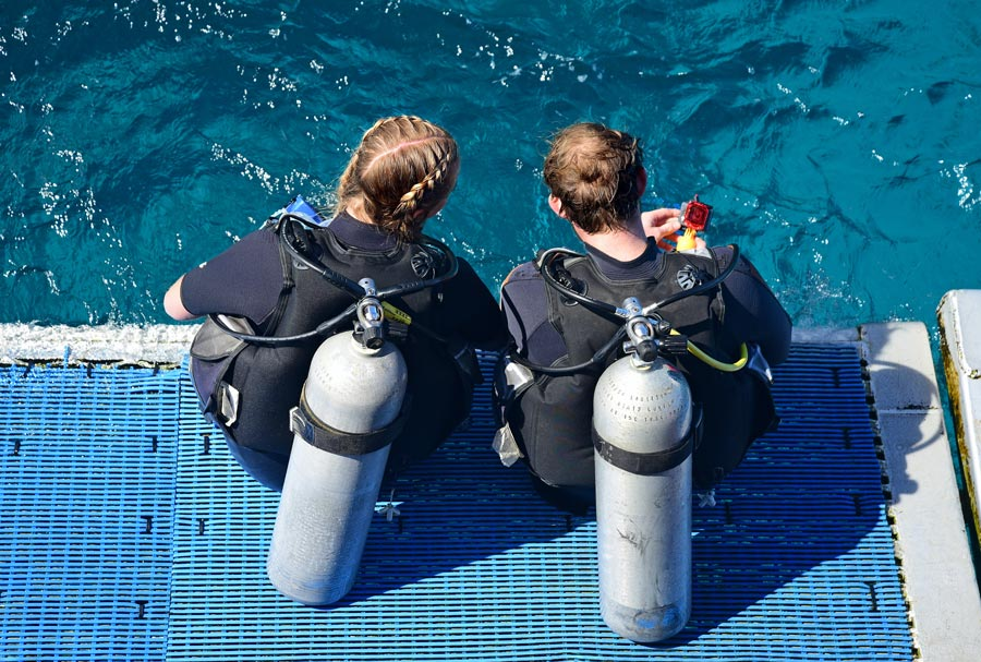 Diving without wetsuit - bucear sin neopreno - 3