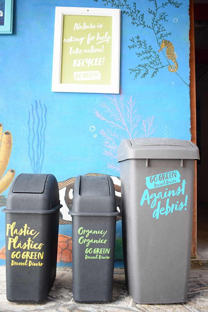 Eco dive center bins