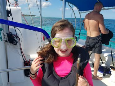 Catamaran Tour In Punta Cana Girl