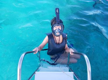 Catamaran Tour In Punta Cana girl and mask