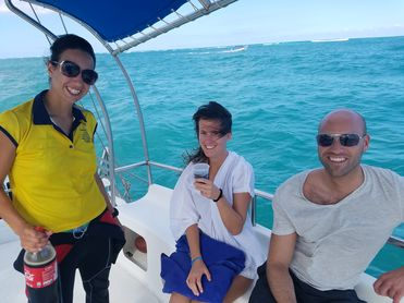 Catamaran Tour In Punta Cana - enjoying drinks