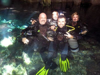 scuba diving cavern