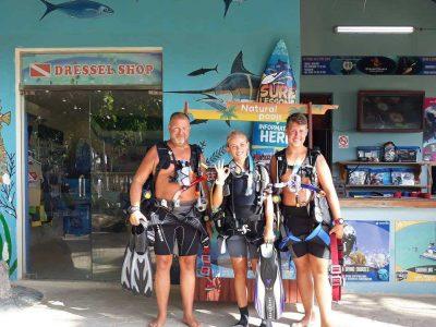 Scuba diving Punta guests