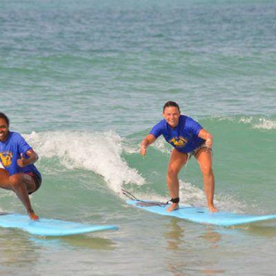 surf lesson mexico
