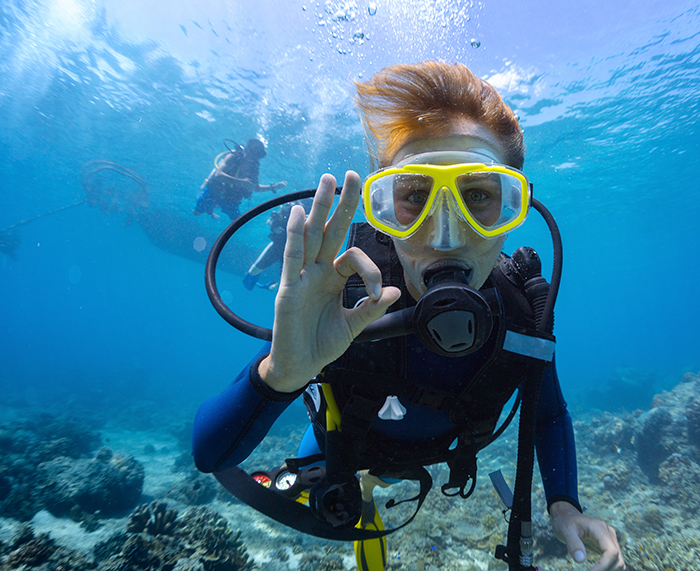 Underwater Communication Systems - hand signals