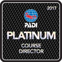 PADI Platinum Course Director - Logo