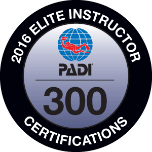 PADI Platinum Course Director - Elite Instructor