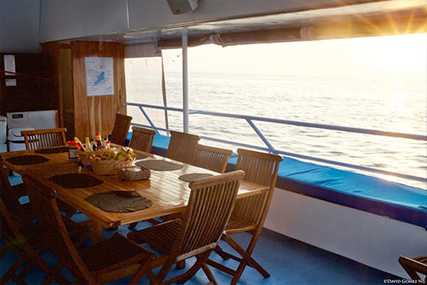 bahamas liveaboard diving - terrace dinning room