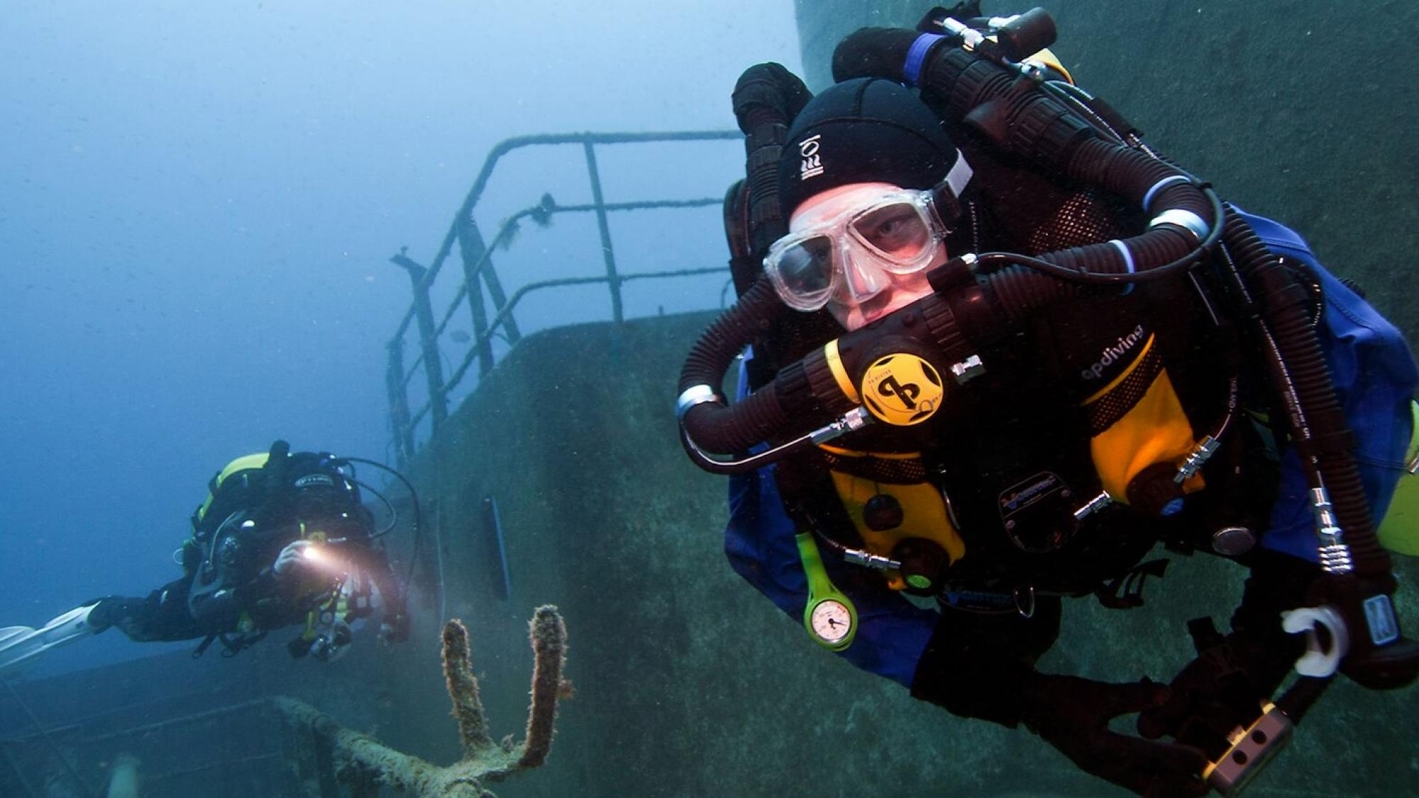 buceo con rebreather - dive buddies