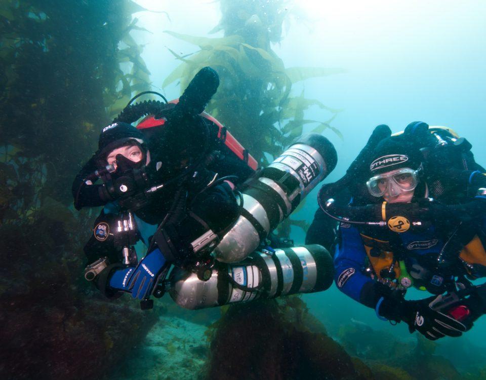 buceo con rebreather - tec