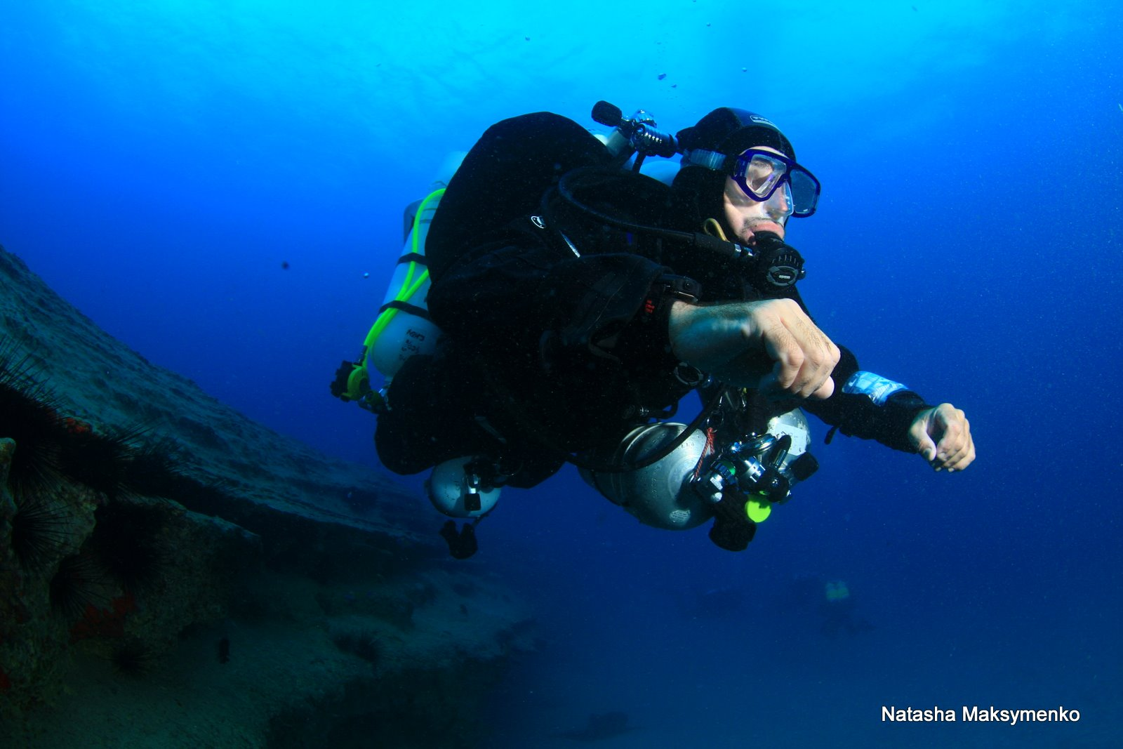 buceo con rebreather - victor