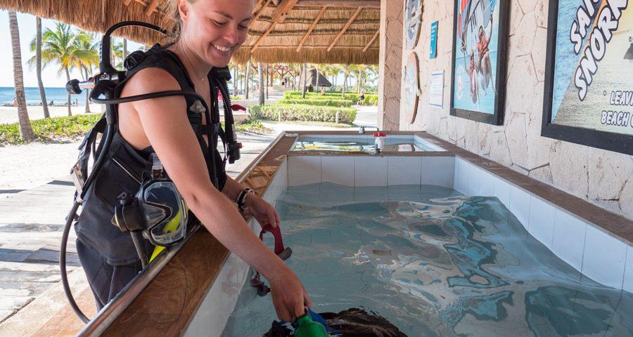 desinfectar el equipo de buceo - principal