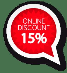 15% Online discount