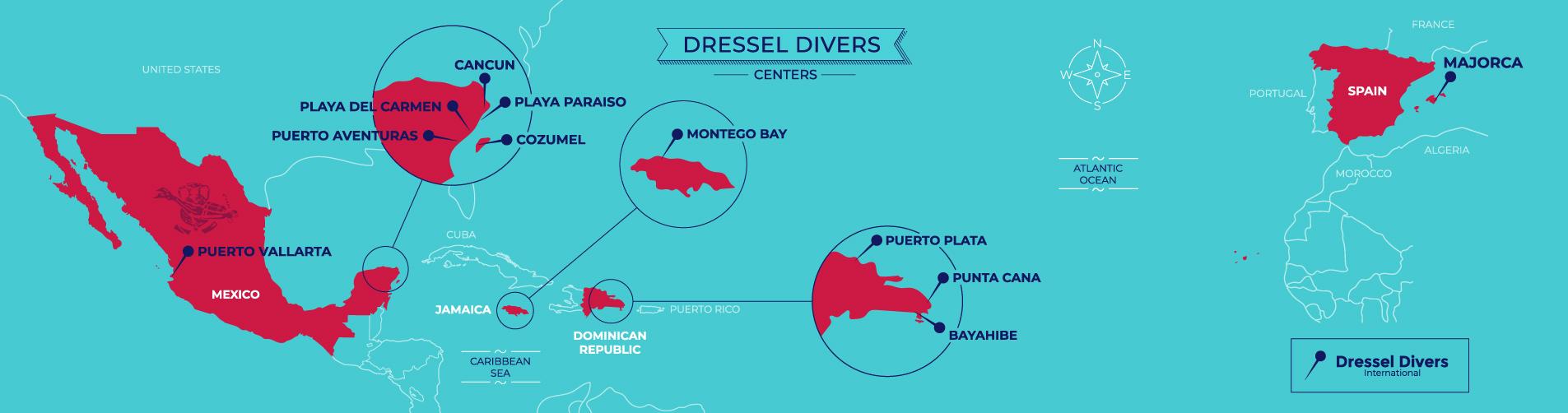 dressel divers centers map