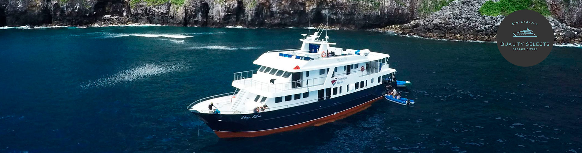 galapagos liveaboard diving - boat
