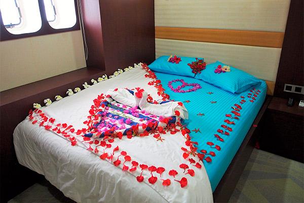 maldives liveaboard diving - LOWER DECK - DOUBLE BED CABIN