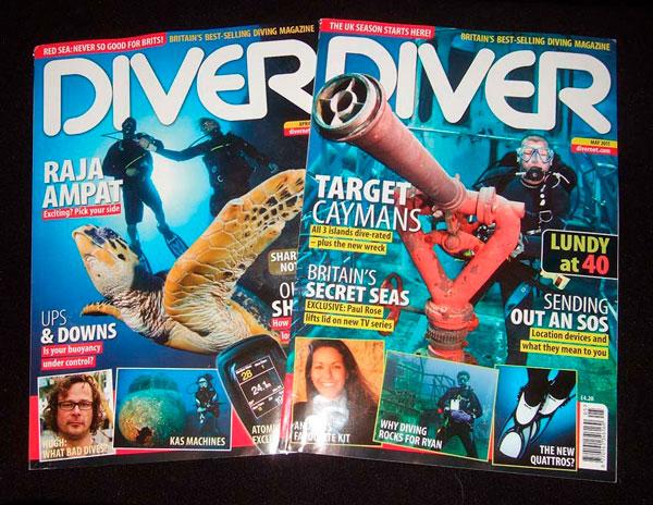 revistas de buceo -DIVER MAG