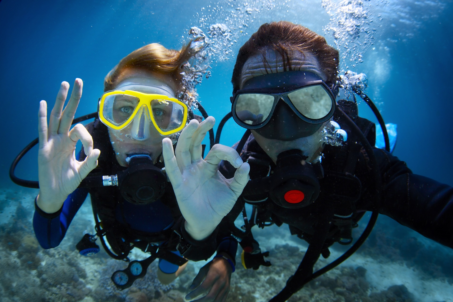 Scuba diving breathing techniques - dive buddy