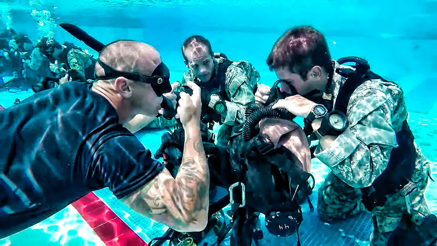 scuba diving career -army 2