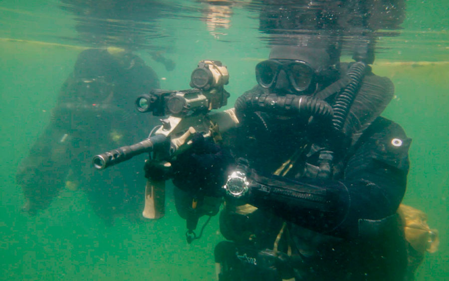 scuba diving career - army