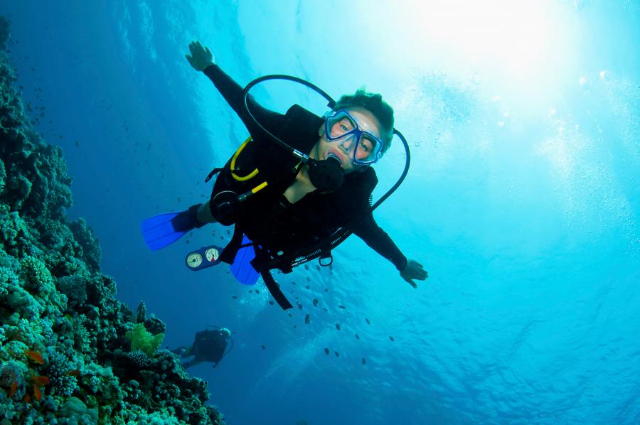 scuba diving terms - girl