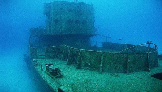 shipwreck in Chankanaab Cozumel - overview