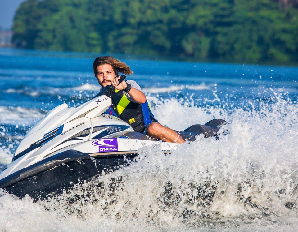 water sport activities - jet skiing
